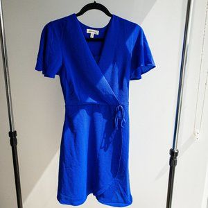 Monteau royal blue wrap dress B3
